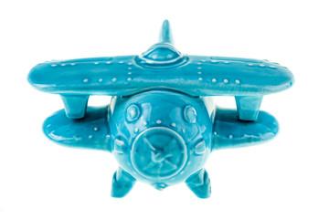 Ceramic airplane model