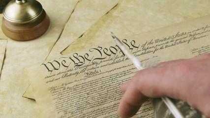 US Constitution Hand Reading