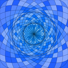 Vector abstract blue geometric background