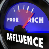 Affluence Gauge Measuring Gap Between Rich Poor People