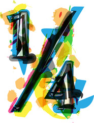 Artistic Abstract colorful quarters sign