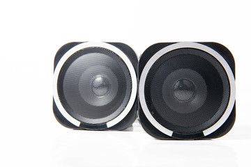 Loudspeaker isolated over a white background