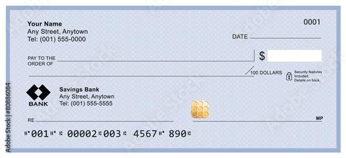 Blank bank check - 80886084
