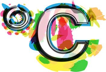 Artistic colorful celcius Symbol