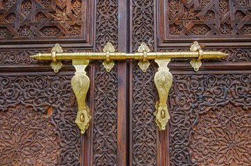 Details of Moroccan door in Morocco Pavilion Putrajaya Malaysia