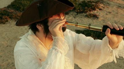 Pirate Holding Spyglass