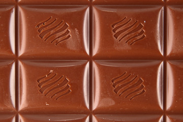 Background texture created from a slab of milk chocolate