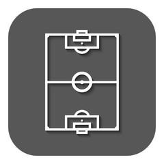 The soccer ball icon. Football symbol. Flat