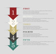Arrows steps design. infographic vector
