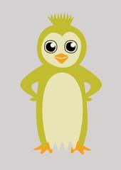 Colorful happy penguin