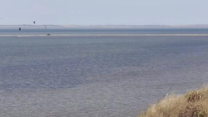 Kitesurfing kite surf Sea coast beach wave tide seashore ocean
