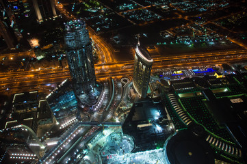 View of night Dubai, United Arab Emirates