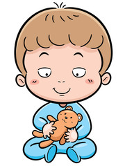 Vector illustration of Cute baby
