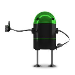 Robot giving thumb up