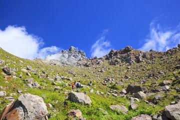 Active volcano Mt. Yakedake