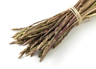 Wild asparagus spears