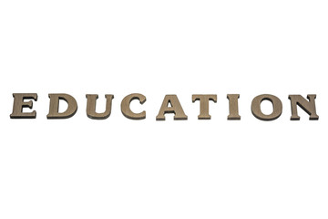 word education made of wood
