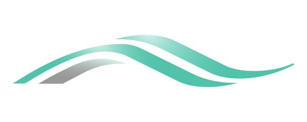 A wave logo