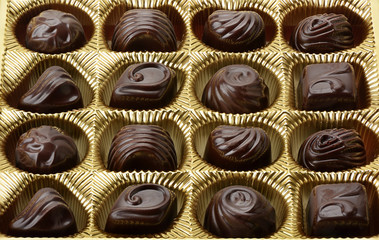 variety of chocolates in box