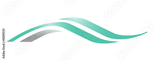 A wave logo © vectorlia