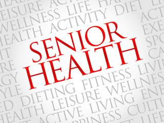 Senior health word cloud, health concept