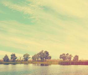 beautiful landscape, instagram retro style