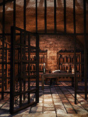 Stara piwnica z butelkami na wino
