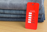 size tag on  jeans