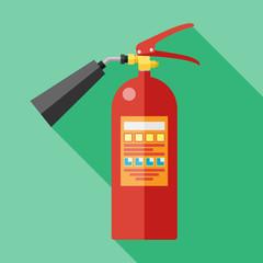 flat fire extinguisher