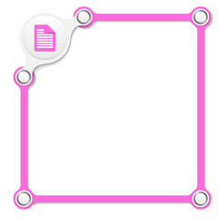vector purple box for your text and document icon