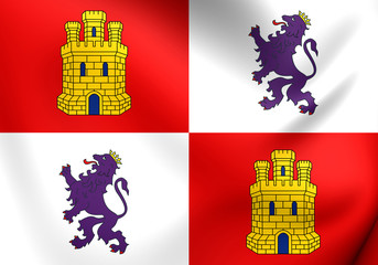 Flag of Castile and Leon, Spain.