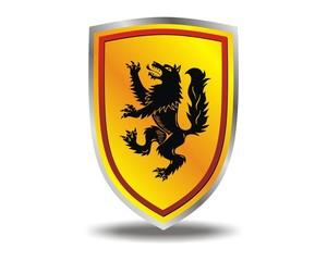 wolf black shield emblem logo vector