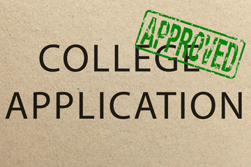Approved college application form