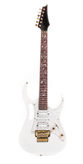 Beautiful white electric guitar.