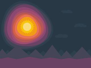 Sonne Himmel Berge