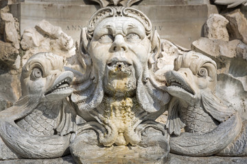 Detail am Brunnen von Giacomo della Porta, Rom, Italien