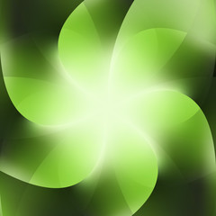 Green Background Abstract Business Flower Vector