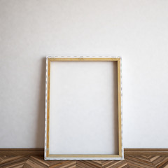 Wooden frame on background