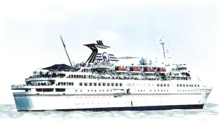 jacht statek 3d animacja morze