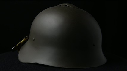 military helmet of the Soviet army with the red star