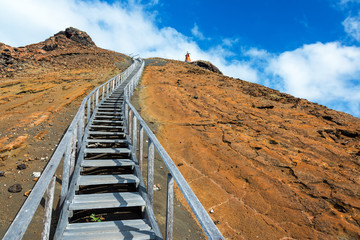 Path up Bartolome Island