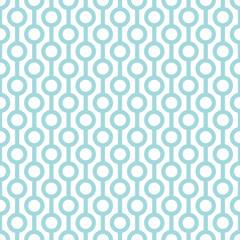 Retro Seamless Pattern Circles/Stripes Turquoise