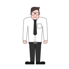 vector illustration of a businessman