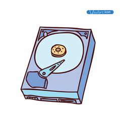 hard drive isolated, vector illustration.
