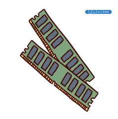 Computer RAM Memory Card , vector illustration.