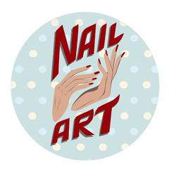 Nail art label