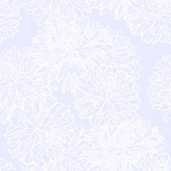 Seamless pattern with decorative flower