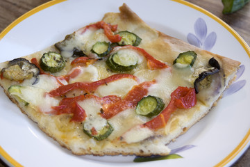 handmade vegetarian pizza