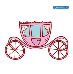 Carriage, hand drawn vector.
