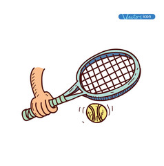 tennis ball icon, vector illustration.